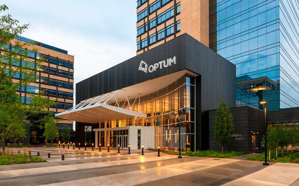 UnitedHealth Group's Optum headquarters in Eden Prairie, Minnesota. Optum is the health care services business of UnitedHealth, the nation's largest health insurer. (Optum photo)