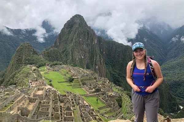 Brenna McCarron, 19 and of Homer, is stranded in Peru after the country shut down its borders March 16. McCarron visits at Machu Picchu. (Photo courtesy of Brenna McCarron)