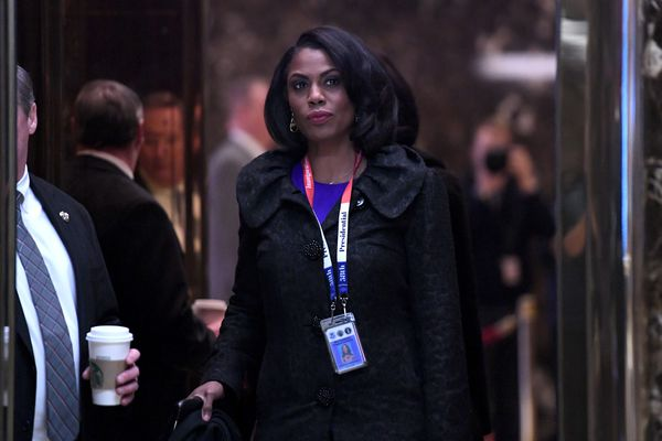 Omarosa Manigault arrives for an event in Trump Tower in New York, U.S., on Monday, Jan. 16, 2017. MUST CREDIT: Bloomberg photo by Anthony Behar