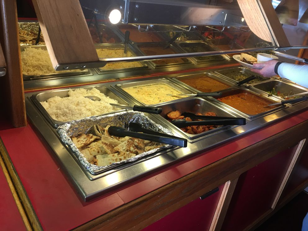 The lunch buffet at Bombay Deluxe (Photo by Mara Severin)
