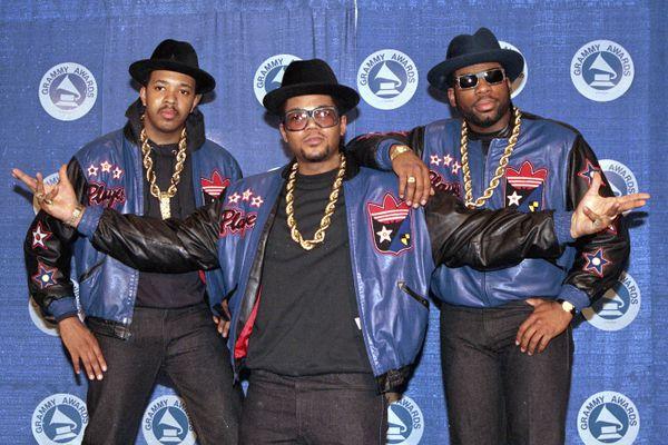 FILE - The rap group Run-DMC, from left, Joseph
