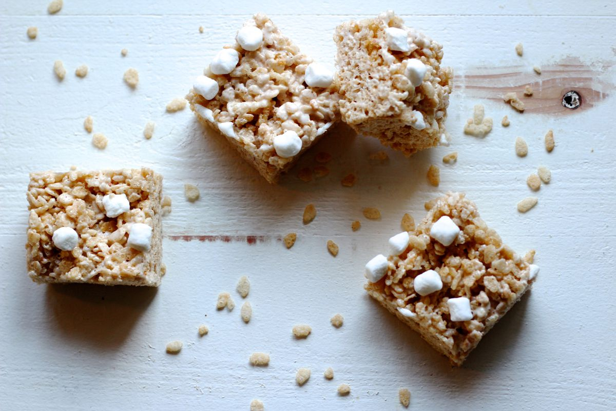 Rice crispy treats with browned butter, sea salt and vanilla bean (Maya Wilson / Alaska from Scratch)