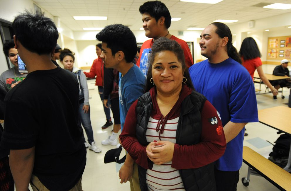 West High secretary Vicky Filemu-Tueipi is a leader of the Poly Club. (Bill Roth / Alaska Dispatch News)