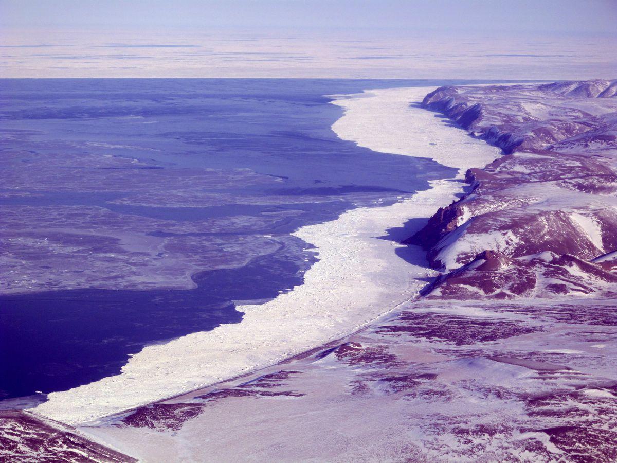Sea ice off Cape Lisburne inNorthwest Alaska, April 2011. (Ned Rozell)