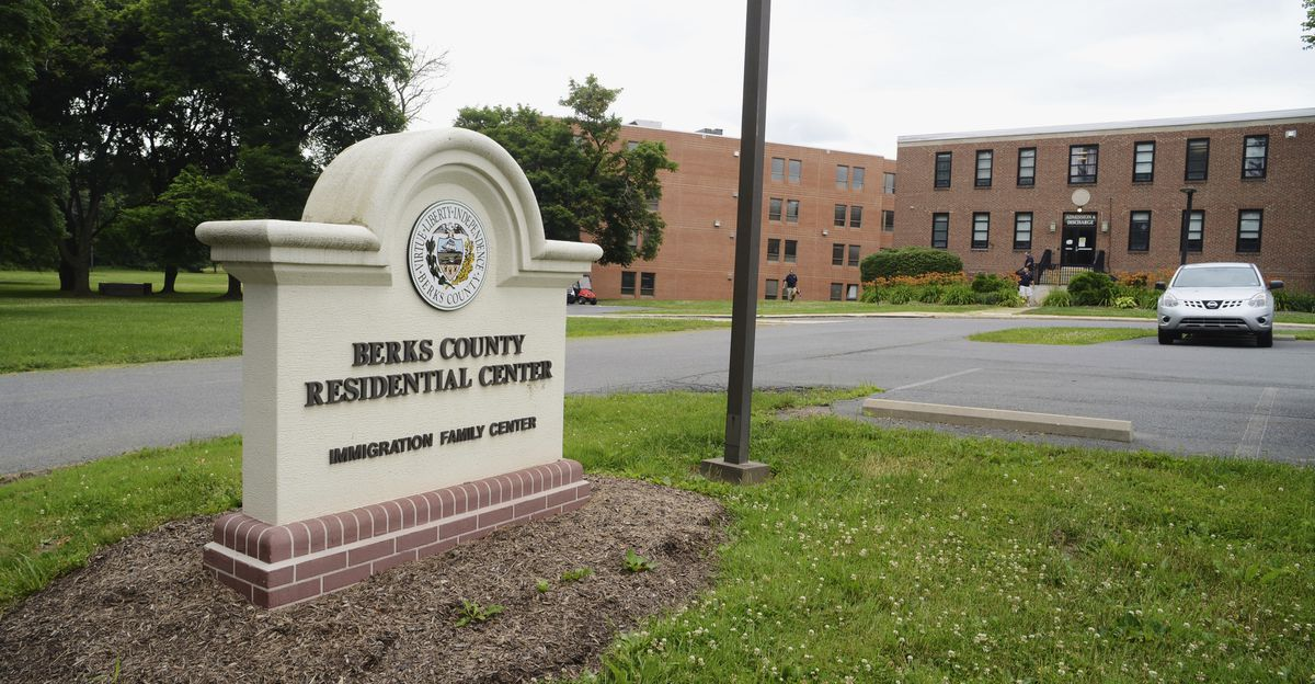 This June 22, 2018, photo shows the Berks County Residential Center in Bern Township, Pa. Several members of an extended British family who made an unauthorized crossing into the United States from Canada are being held in federal custody at the Pennsylvania detention center nearly two weeks after their arrest, their lawyer said Tuesday, Oct. 15, 2019, as U.S. border officials defended their handling of the case by disclosing that two of the adults had previously been denied entry to the country. (Bill Uhrich/Reading Eagle via AP)