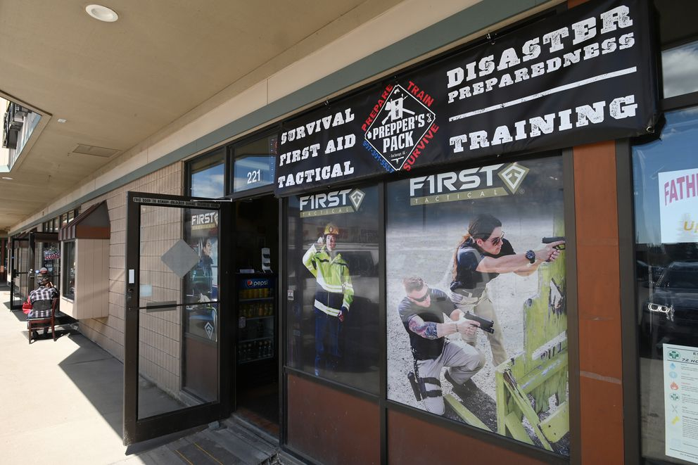 Prepper's Pack, a first aid, survival and tactical store located in Kings Row off Dimond Boulevard on Tuesday, June 16, 2020. (Bill Roth / ADN)
