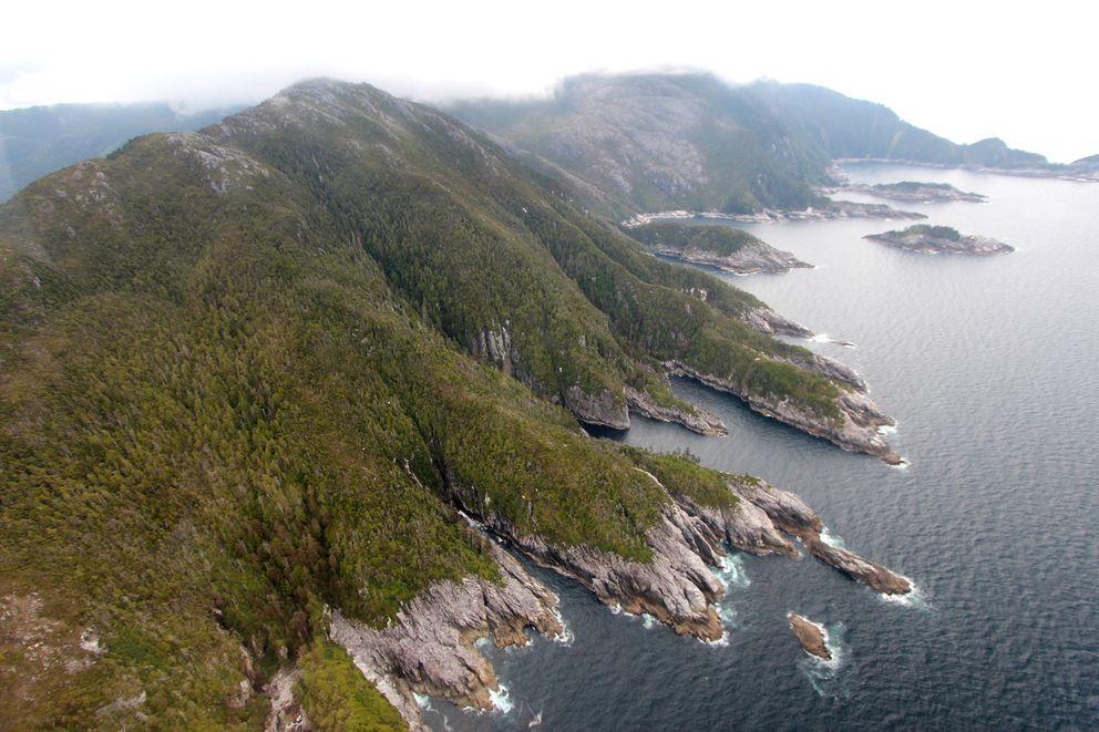 An undated photo provided by Jason Briner, a University of Buffalo geologist, an island in the Alexander Archipelago of southeastern Alaska. (Jason Briner via The New York Times)