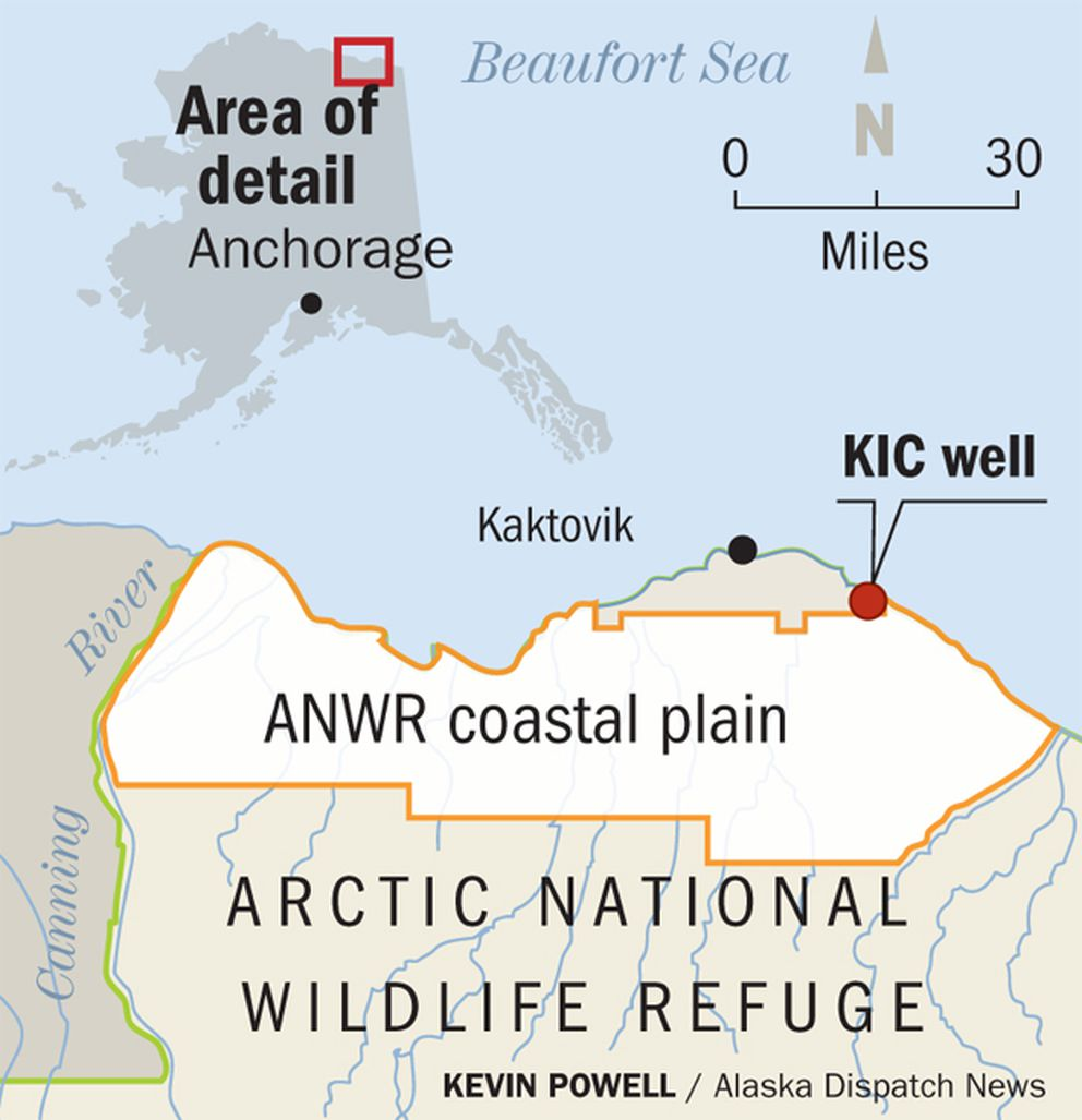 Kaktovik Alaska Map.Mystery Surrounds Only Oil Well Drilled In Anwr Anchorage Daily News