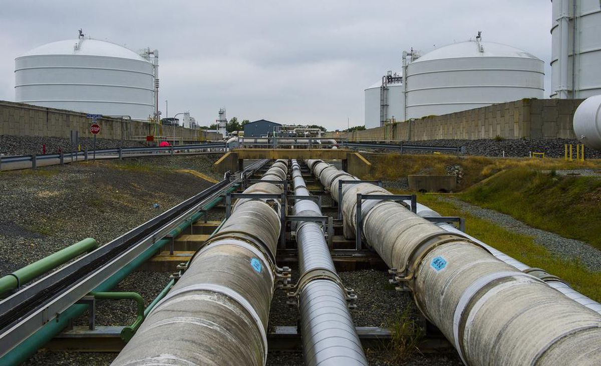 The Dominion Cove Point LNG Terminal in Maryland was built to import several hundred tankers of liquid natural gas annually. (Washington Post photo by Ricky Carioti)