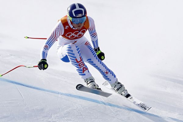 Alpine Skiing - Pyeongchang 2018 Winter Olympics - Women's Downhill - Jeongseon Alpine Centre - Pyeongchang, South Korea - February 21, 2018 - Lindsey Vonn of the U.S. competes. REUTERS/Dominic Ebenbichler