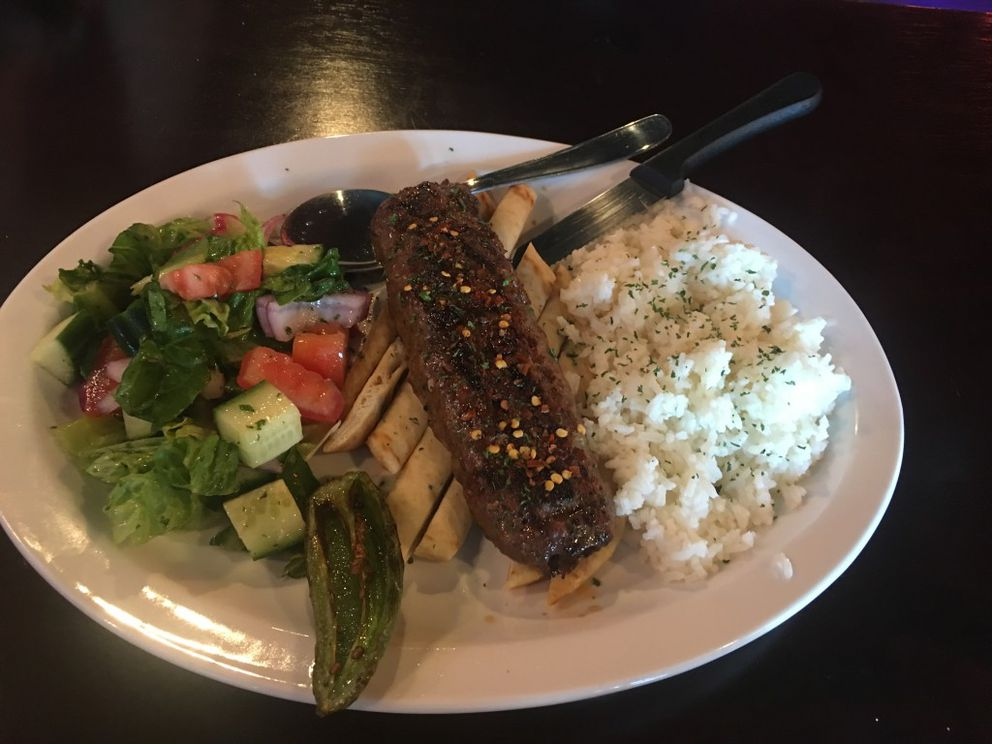 Adana kebab at Turkish Delight in Anchorage