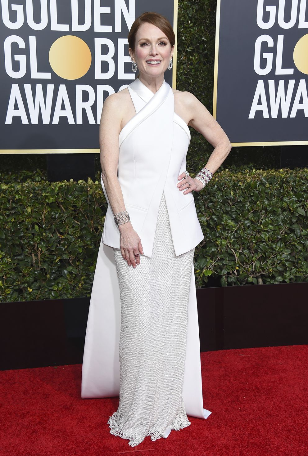 Julianne Moore arrives at the 76th annual Golden Globe Awards at the Beverly Hilton Hotel on Sunday, Jan. 6, 2019, in Beverly Hills, Calif. (Photo by Jordan Strauss/Invision/AP)