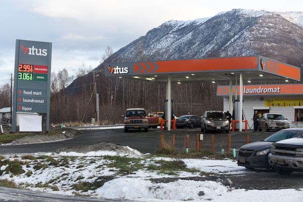 The Vitus convenience store in Chugiak. Formerly known as Alice Mae's, the convenience store was purchased by Anchorage-based Vitus Energy in February. (Matt Tunseth / Chugiak-Eagle River Star)