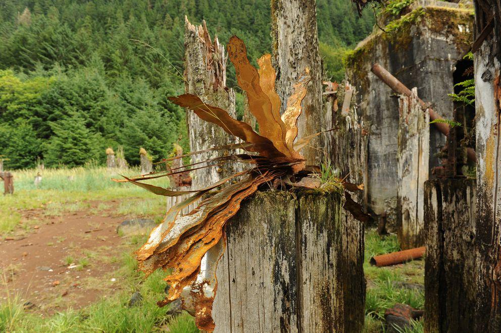 Rusty metal on an old pile. (Bob Hallinen / ADN)