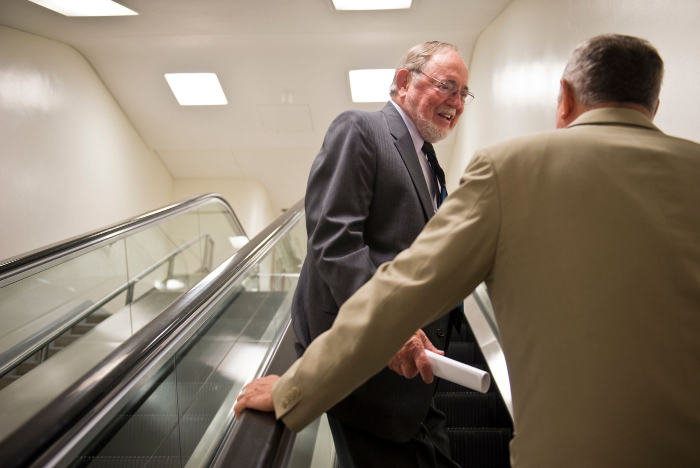 Rep. Don Young heads toward the floor of the House of Representatives in the Capitol on Thursday, June 25, 2015. (Marc Lester/Alaska DIspatch News)