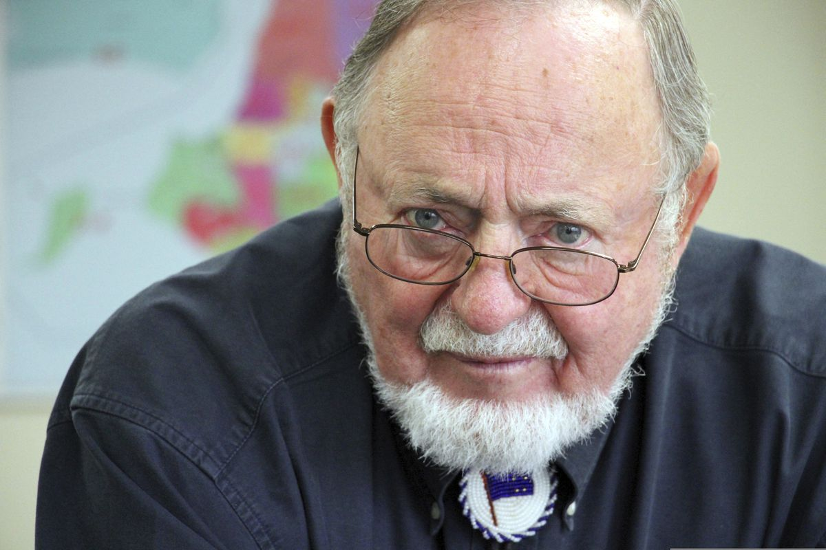 FILE - In this June 28, 2019, file photo, U.S. Rep. Don Young, answers a reporter's question after filing paperwork for re-election at the Alaska Division of Elections in Anchorage, Alaska. (AP Photo/Mark Thiessen File)
