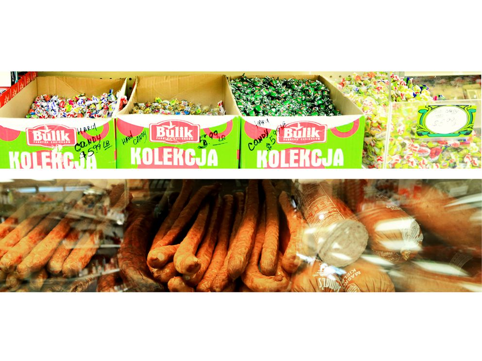 Candy and other products for sale at the Eastern European Store & Deli. (Rejoy Armamento / Alaska Dispatch News)
