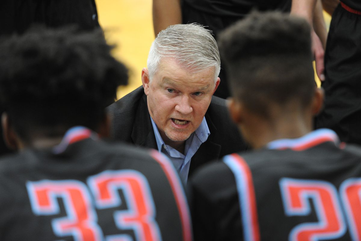 East High coach Chuck Martin, shown here during the 2018-19 season, collected his 399th career victory as an Alaska high school basketball coach Friday night. (Bill Roth / ADN archives)