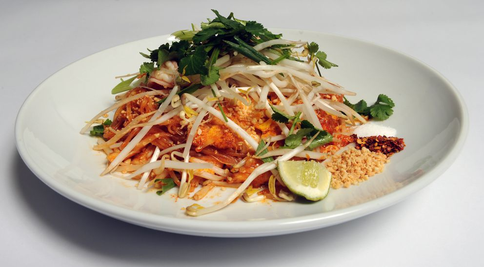 Pad Thai at Lahn Pad Thai restaurant at 2101 Abbott Road on Wednesday, Jan. 2, 2012. (Bob Hallinen / ADN archive)