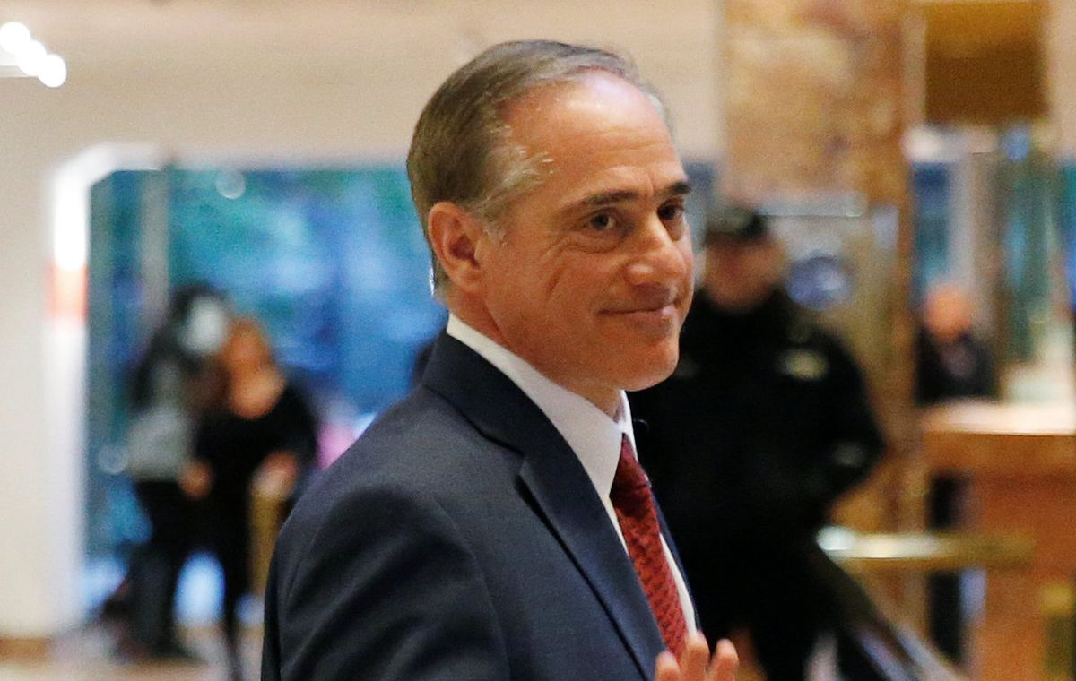 David Shulkin after a meeting at Trump Tower in Manhattan, January 9, 2017. REUTERS/Shannon Stapleton