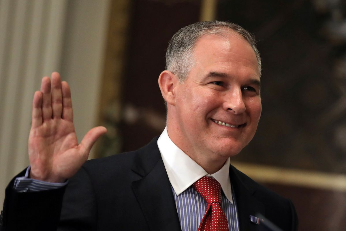 The Senate confirmed Scott Pruitt to run the Environmental Protection Agency over the objections of Democrats and environmentalists worried he will gut the agency. (REUTERS/Carlos Barria)