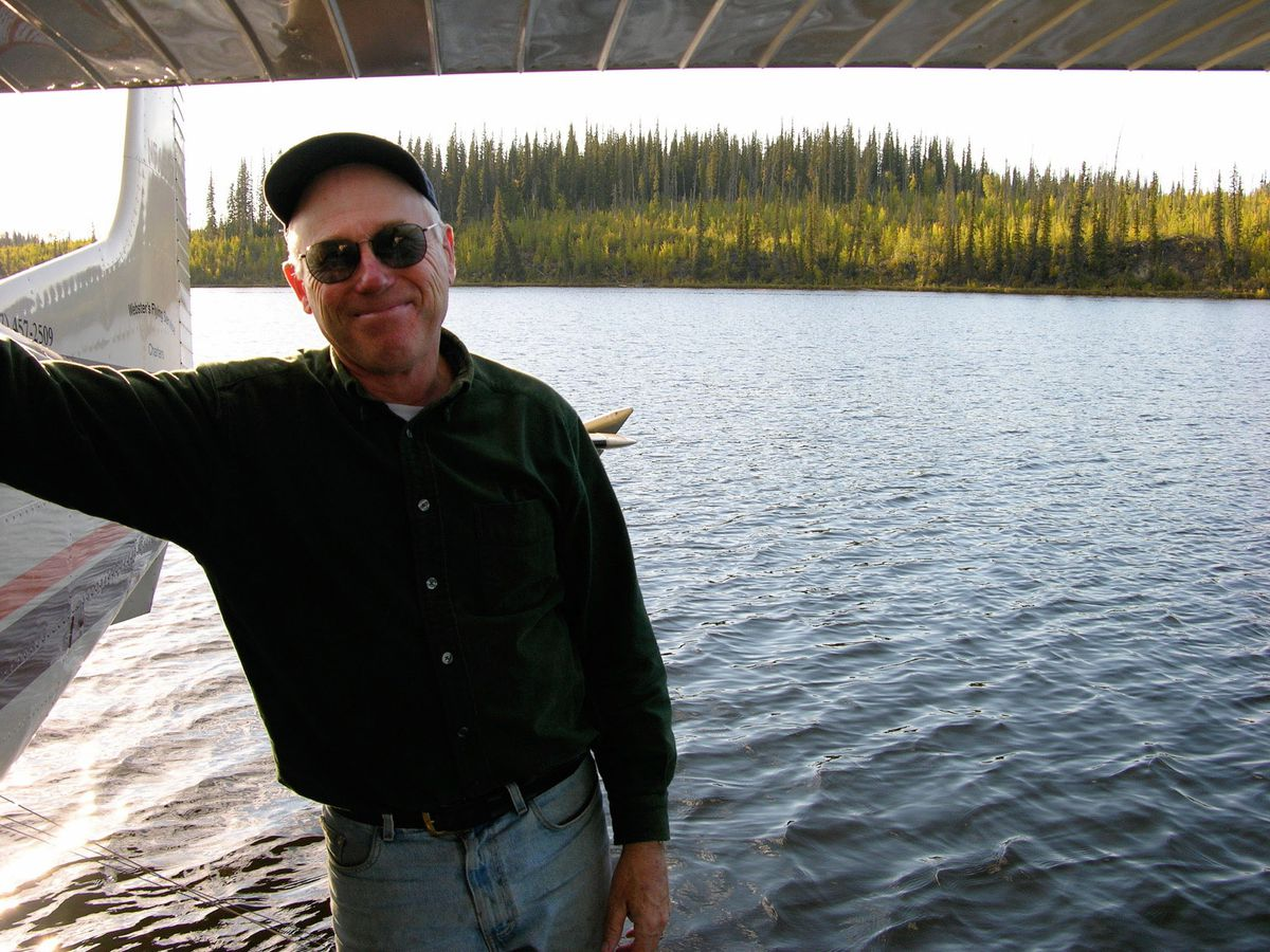 Jim Webster at Sands of Time Lake, Yukon Flats National Wildlife Refuge, in September 2007. Webster died May 14, 2020 in a plane crash near Utqiagvik. He was 76 years old. (Photo by Lesleigh Anderson)