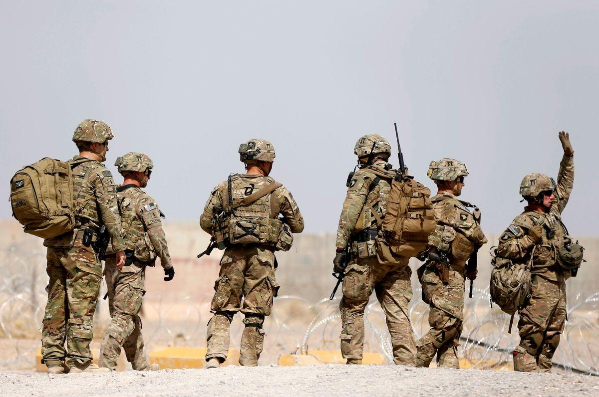 U.S. troops walk outside their base in Uruzgan province, Afghanistan July 7, 2017. (Omar Sobhani / Reuters file photo)