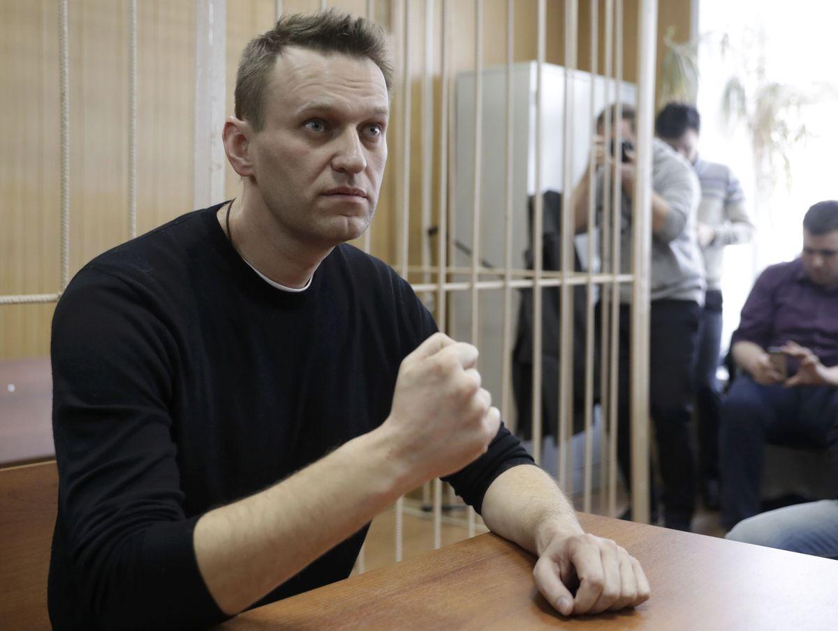 Russian opposition leader jailed following nationwide protests