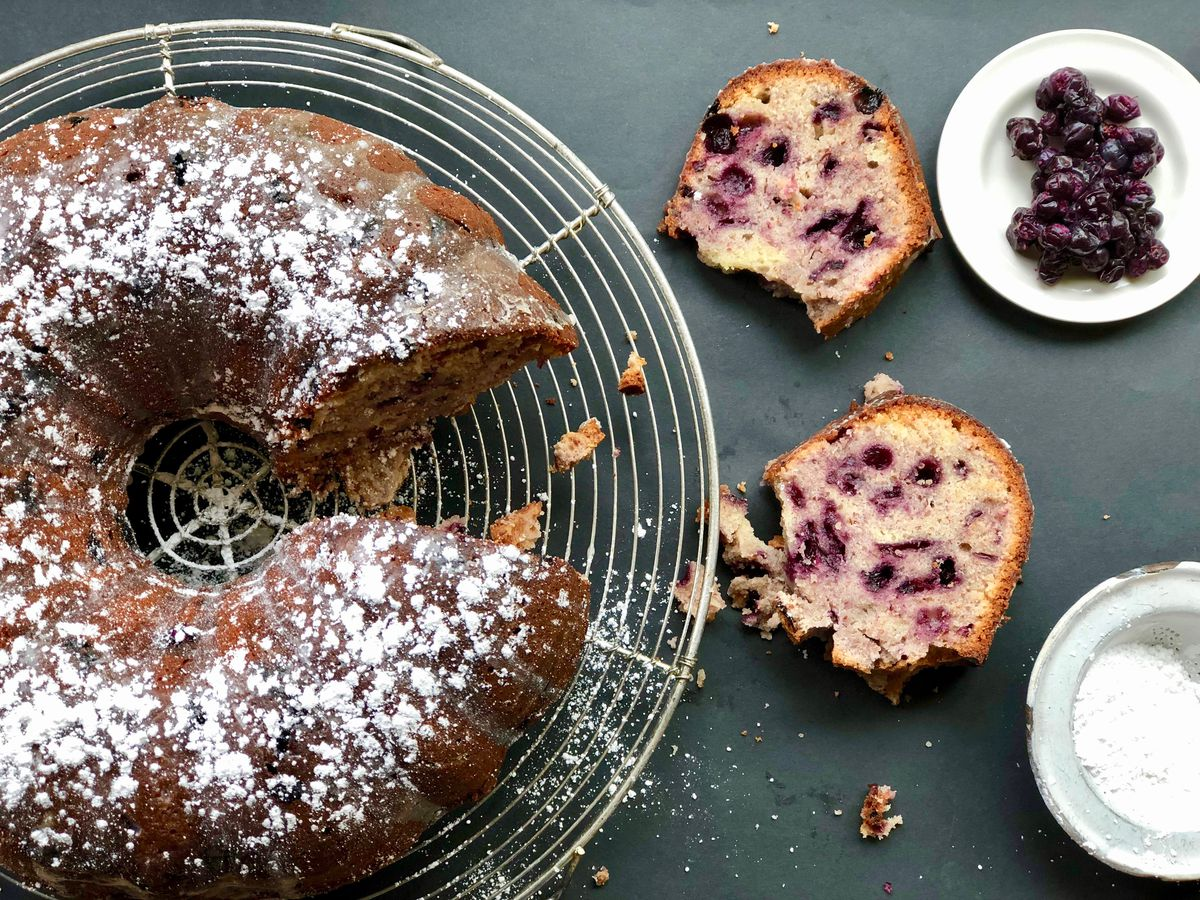 Blueberry cream cheese Bundt cake (Photo by Kim Sunée)