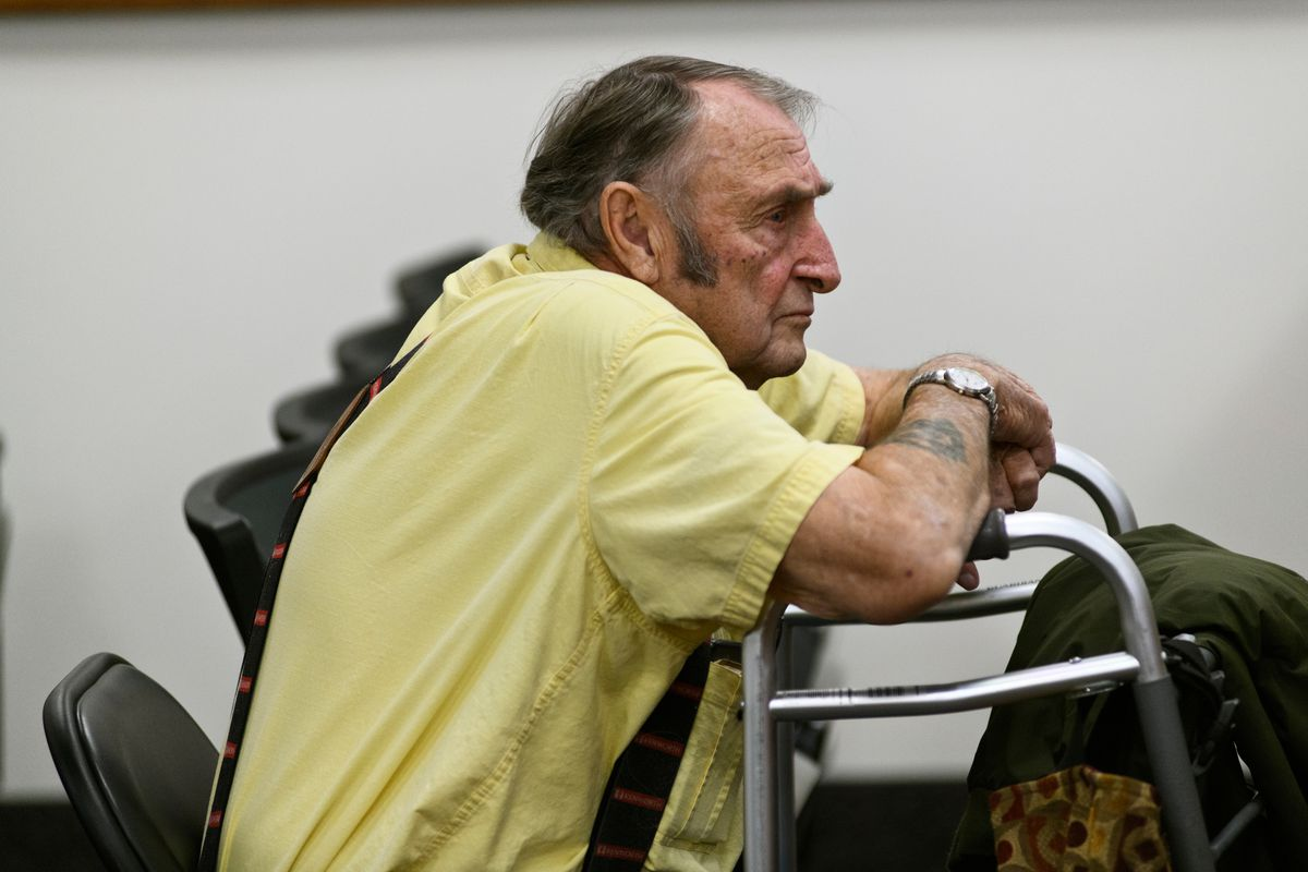 Arthur Fox is arraigned in a Palmer courtroom Wednesday. Prosecutors say a rock from a gravel truck driven by Fox flew into Hailey Belnap's windshield as she was driving, causing her death in 2018. (Marc Lester / ADN)