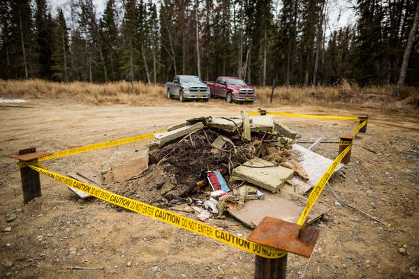 This October 2014 file photo shows a demolished building on land in Nikiski purchased by the Alaska LNG project. The state is proposing a payment-in-lieu-of-taxes agreement as a way of handling anticipate revenue from property taxes generated by the project.