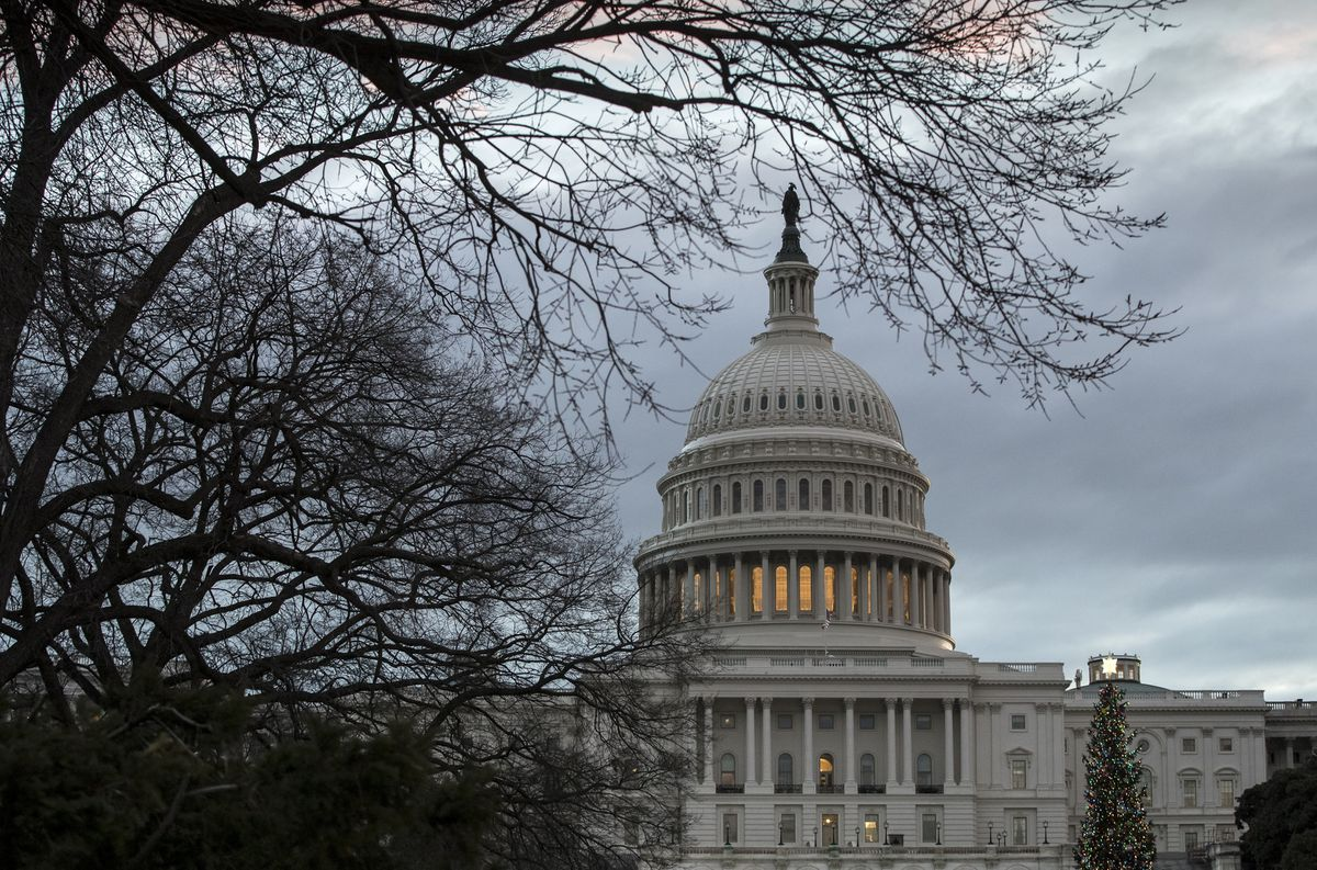 The Capitol is seen on the first morning of a partial government shutdown, as Democratic and Republican lawmakers are at a standoff with President Donald Trump on spending for his border wall, in Washington on Saturday. (AP Photo/J. Scott Applewhite)