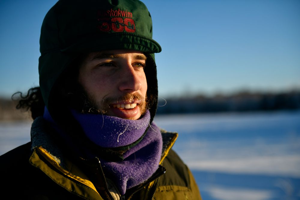 Musher Sean Underwood scratched near Safety during the 2020 Iditarod, his first attempt. He plans to race again this year. Photographed on January 29, 2021. (Marc Lester / ADN)