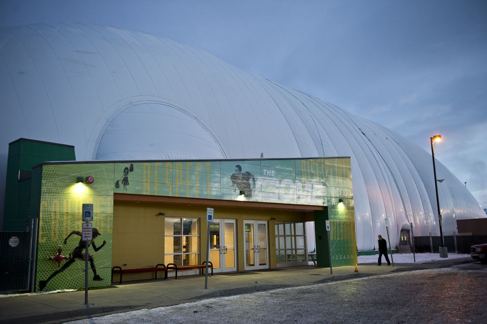 The Dome is located at 6501 Changepoint Drive in Anchorage. (Marc Lester / ADN)