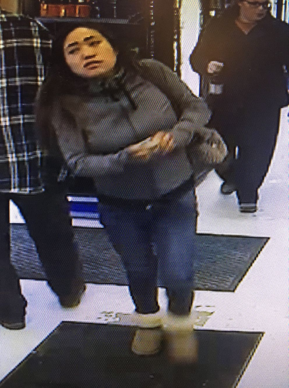A robbery suspect who may be on foot with the male suspect (Anchorage Police Department)