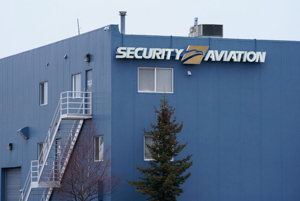 Security Aviation, photographed Saturday, Nov. 30, 2019 at the Ted Stevens Anchorage International Airport. (Loren Holmes / ADN)