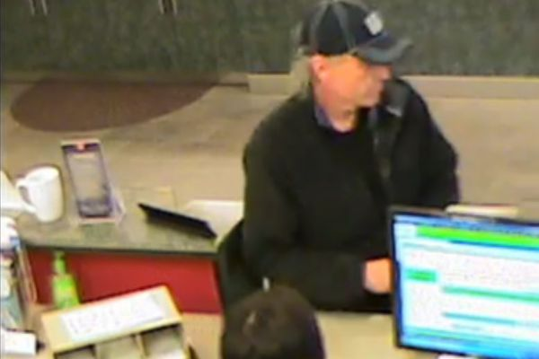 The Anchorage Police Department released this image of a man it is searching for in connection with a bank robbery on Saturday, Sept. 19.