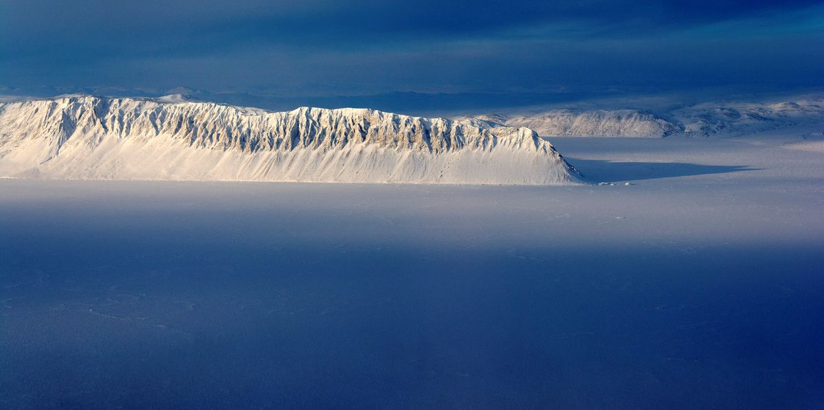 Eureka Sound on Ellesmere Island in the Canadian Arctic is seen in a NASA Operation IceBridge survey picture taken March 25, 2014. NASA/Michael Studinger/Handout via REUTERS