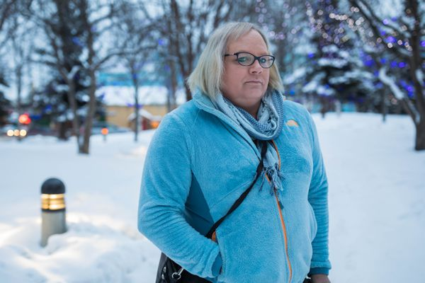 Andrea Redeker, a transgender woman, photographed Saturday, Feb. 10, 2018 in Anchorage. (Loren Holmes / ADN)