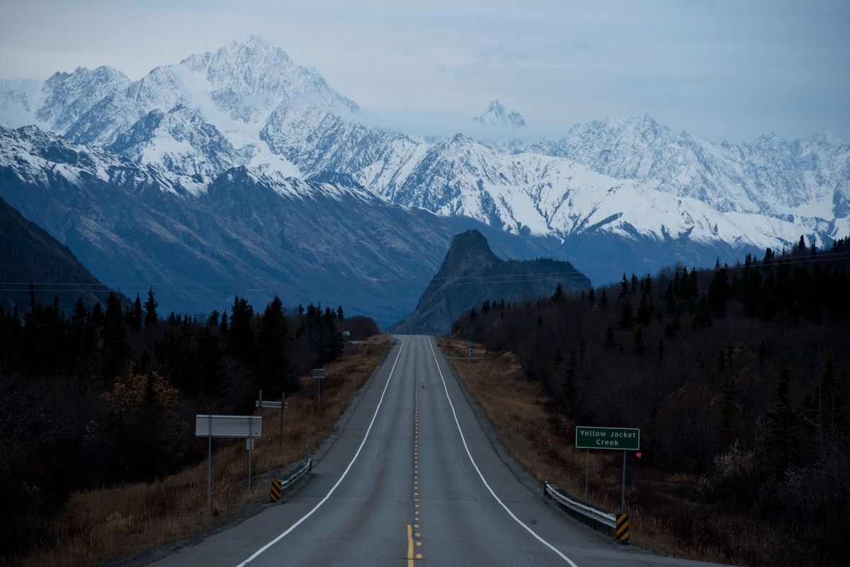 The Glenn Highway from the Glacier View area. (Marc Lester / ADN archive, 2016)