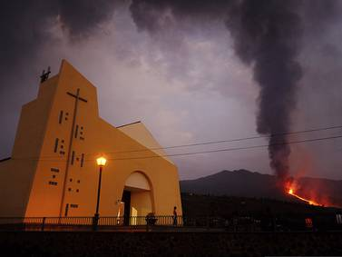 Lava from Canary Islands volcano quickens its pace toward the Atlantic