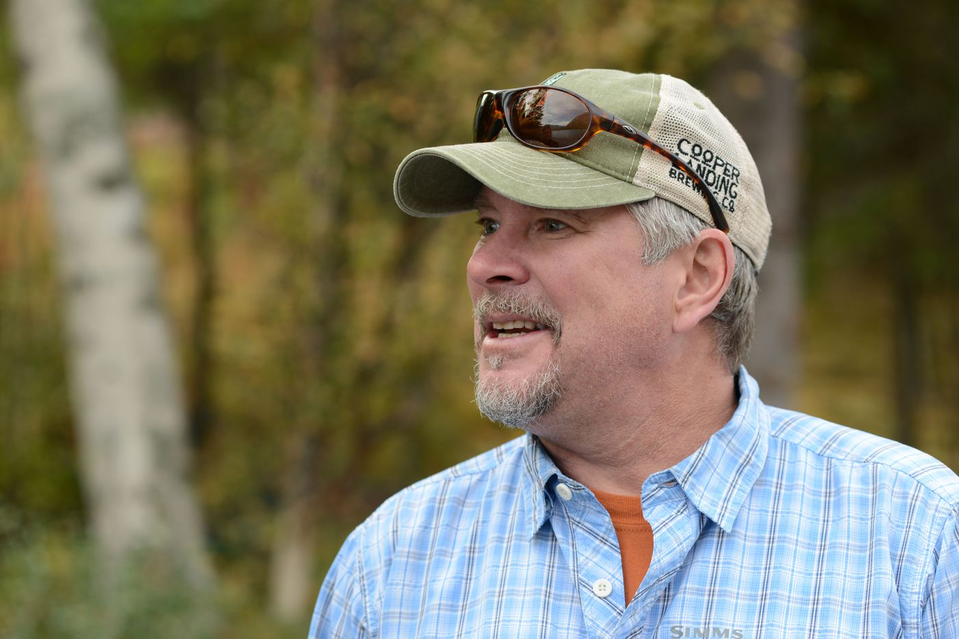 Stacy Corbin, owner of Mystic Waters Fly Fishing, talks about his business and the management of the Swan Lake fire Sept. 6, 2019. (Anne Raup / ADN)