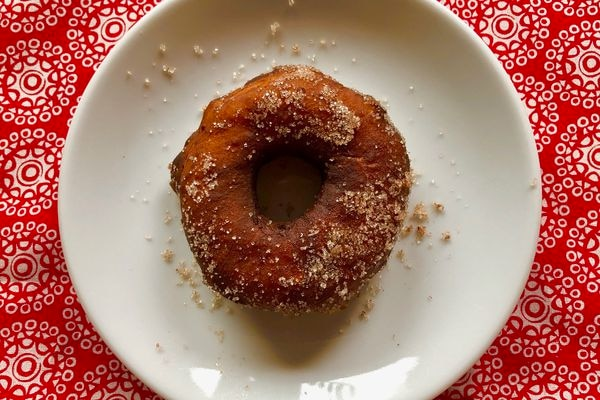 Sunshine doughnut, adapted from the King Cove Women's Club cookbook published in 1978. (Julia O'Malley / ADN)