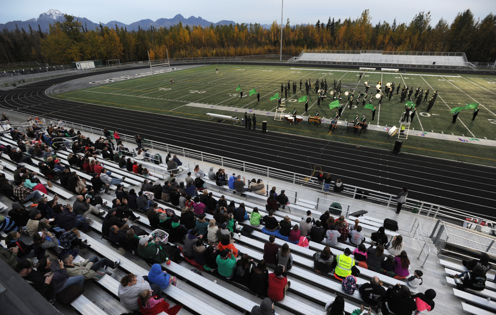 Thee Northern Sound from Colony High School showcased their musical talents during the 14th annual Marching Band Invitational at Colony High School on Wednesdayevening. (Bill Roth / ADN)