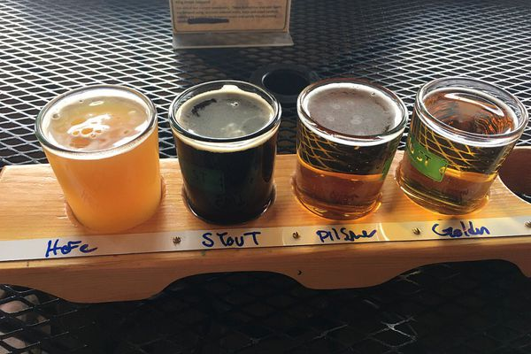 A beer flight at King Street Brewing Co. (Mara Severin)
