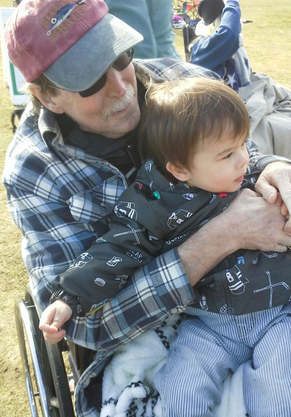 The Zuidmeer family used to meet regularly at Peace Arch Park. Bill Zuidmeer was diagnosed in December with terminal kidney cancer. Bill and his grandson (above) had a final visit together before Bill passed away 12 days later. (Peter Zuidmeer)