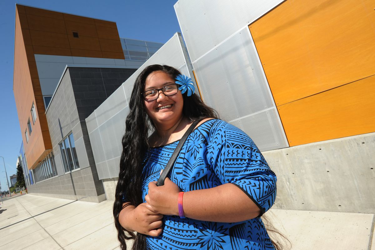 Dahsuri (Dash) Togi is a Youth Task Force activities coordinator at Covenant House Alaska and helped develop the Premera-funded project for homeless youth. She came to Covenant House in 2016 and was homeless at the time.  (Bill Roth / ADN)