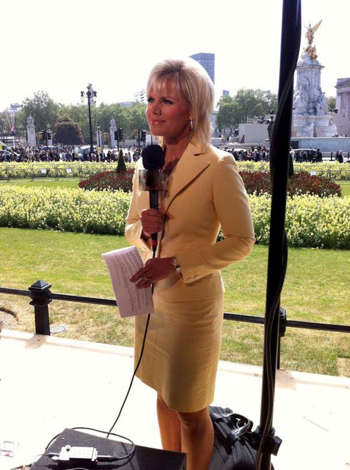 Former Fox News correspondent Gretchen Carlson is seen in an undated handout photo taken in London. (Gretchen Carlson/Handout via REUTERS)