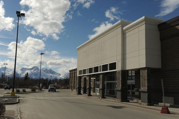 The old Fred Meyer building sits empty in Palmer, AK on Wednesday April 11, 2018. (Bob Hallinen / ADN)