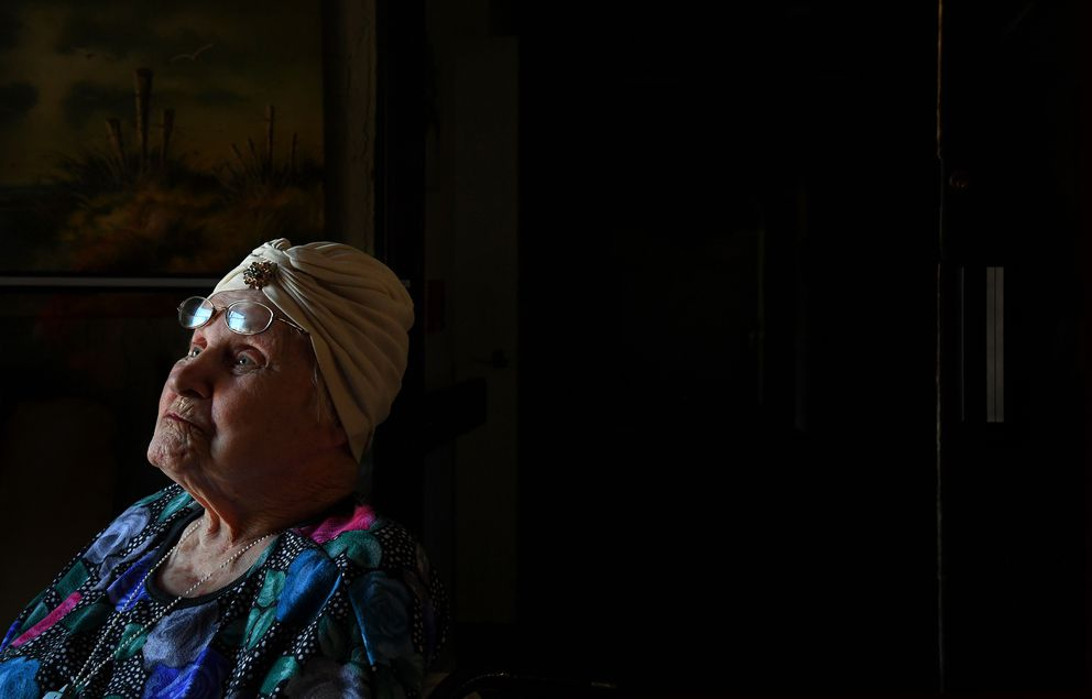 A Cape Coral resident asked to be positioned near a large window to enjoy both the light and the slight breeze that came through. Washington Post photo by Michael S. Williamson